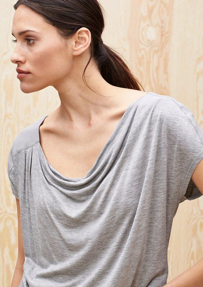 s.Oliver PREMIUM Lockeres Wasserfall-Shirt in grey melange