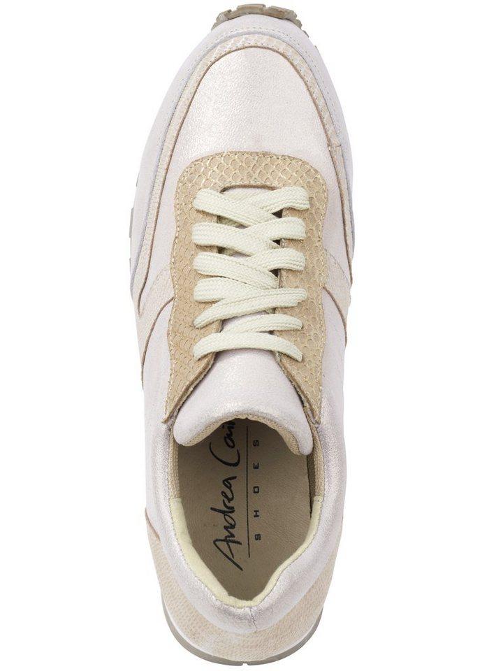 Sneaker in beige/goldfarben