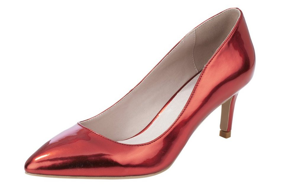 Heine Pumps in rot