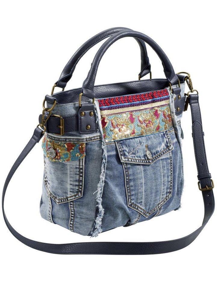 Tasche von DESIGUAL in blue denim