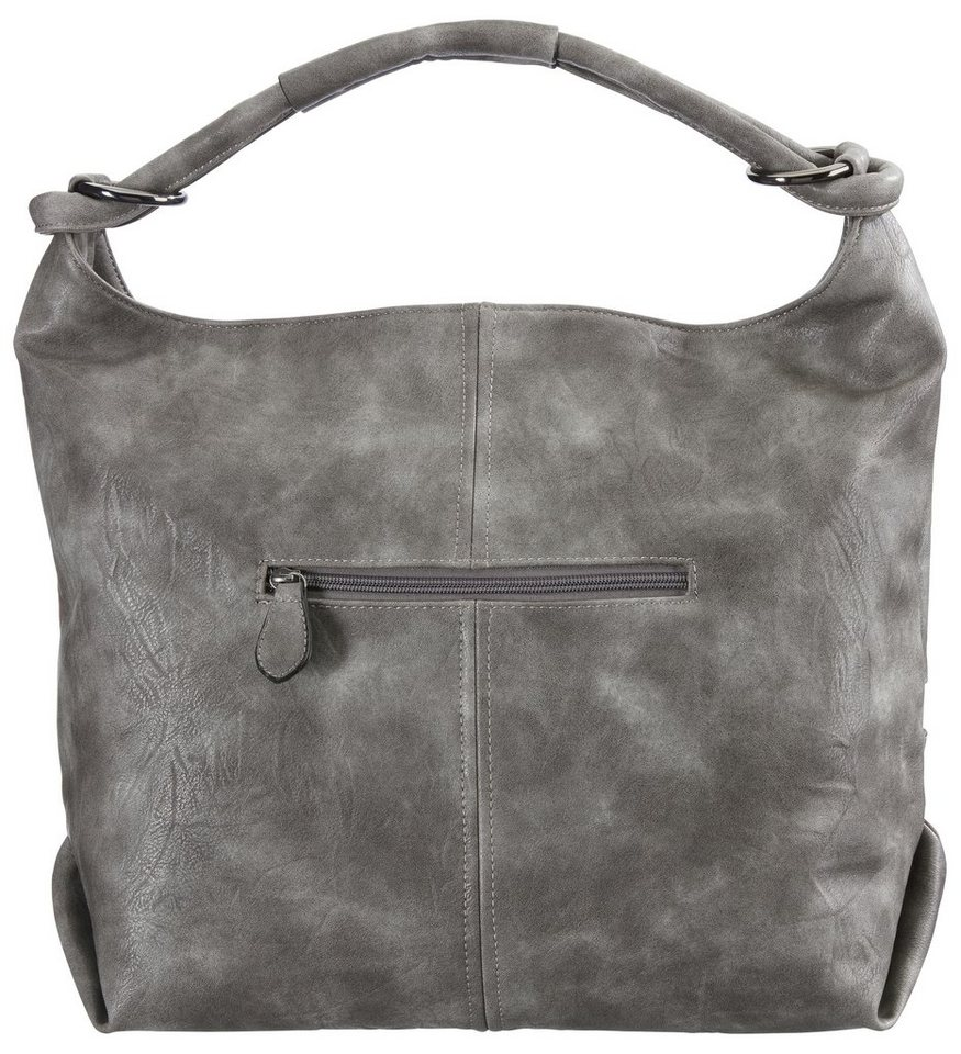 Heine Tasche in Patchoptik in grau/mauve