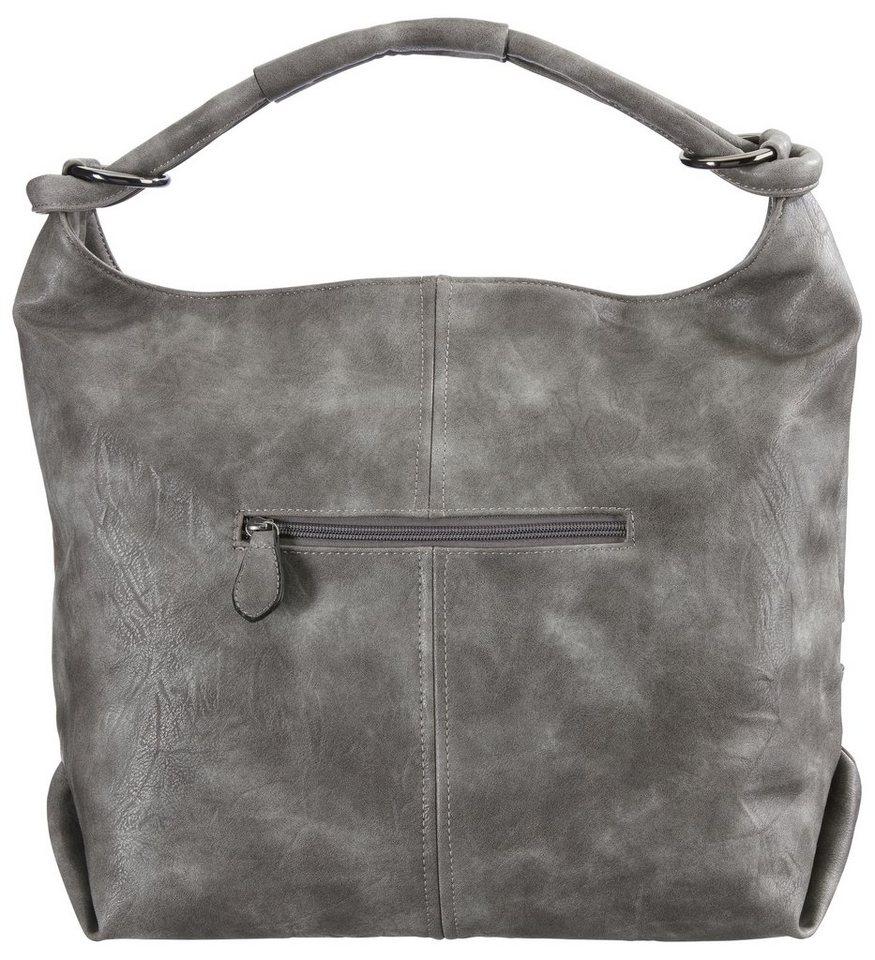 Tasche in grau/mauve