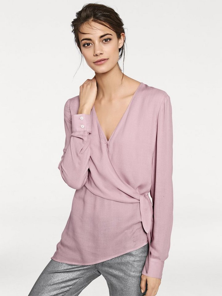 Wickelbluse in rosa