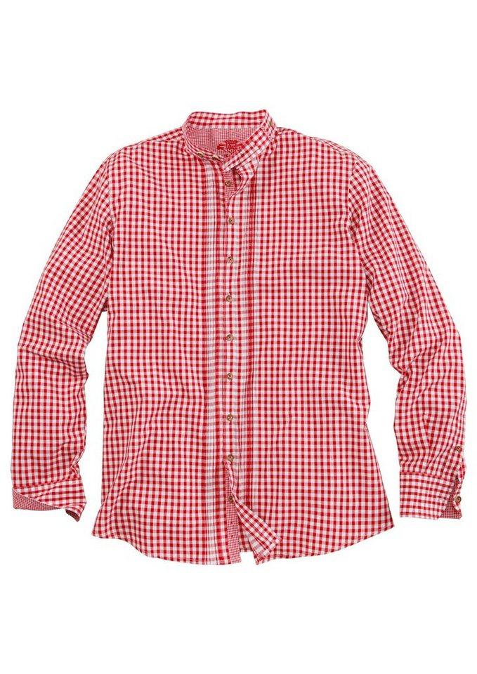 Trachtenhemd mit Stehkragen, OS-Trachten in rot