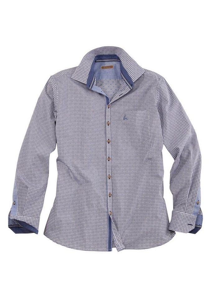 Trachtenhemd im Karo-Design, OS-Trachten in blau