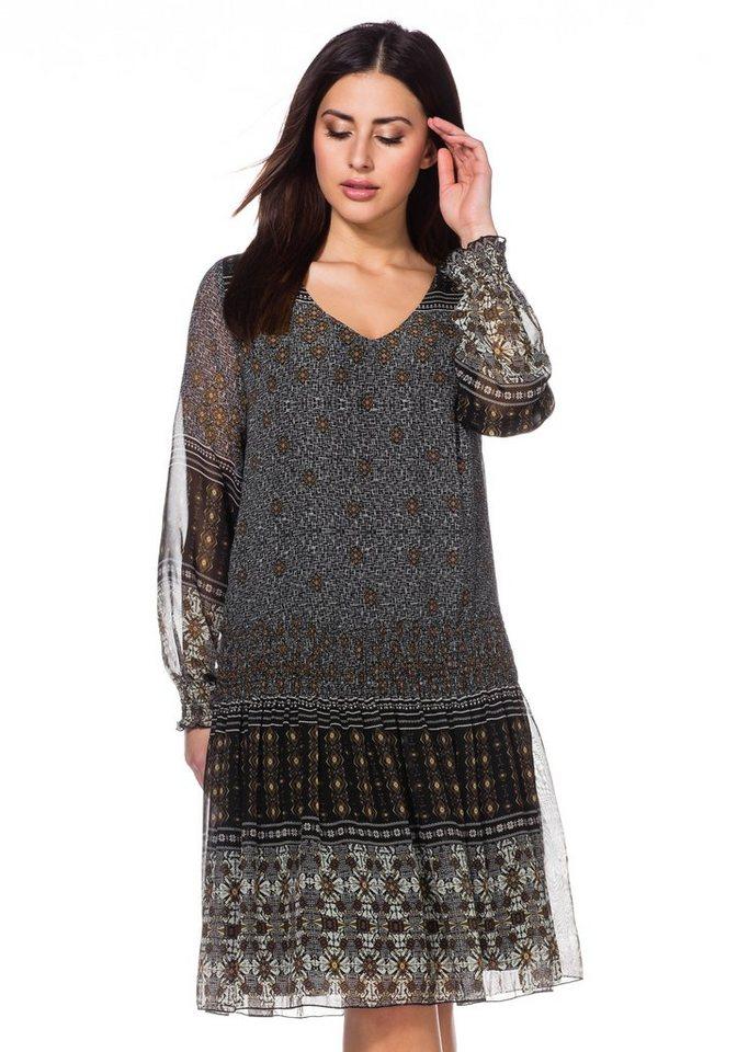 sheego Trend Kleid in schwarz bedruckt