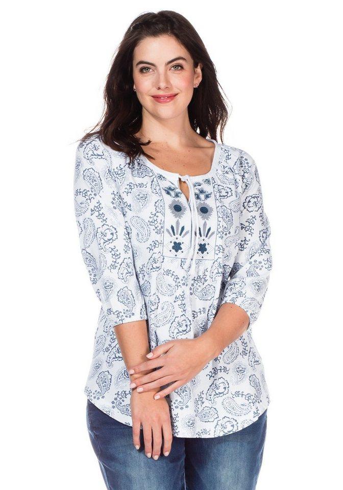 sheego Casual 3/4-Arm-Shirt mit Paisleydruck in gemustert