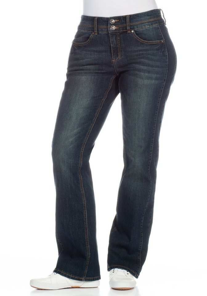 sheego Denim Bootcut-Stretch-Jeans in blue black used