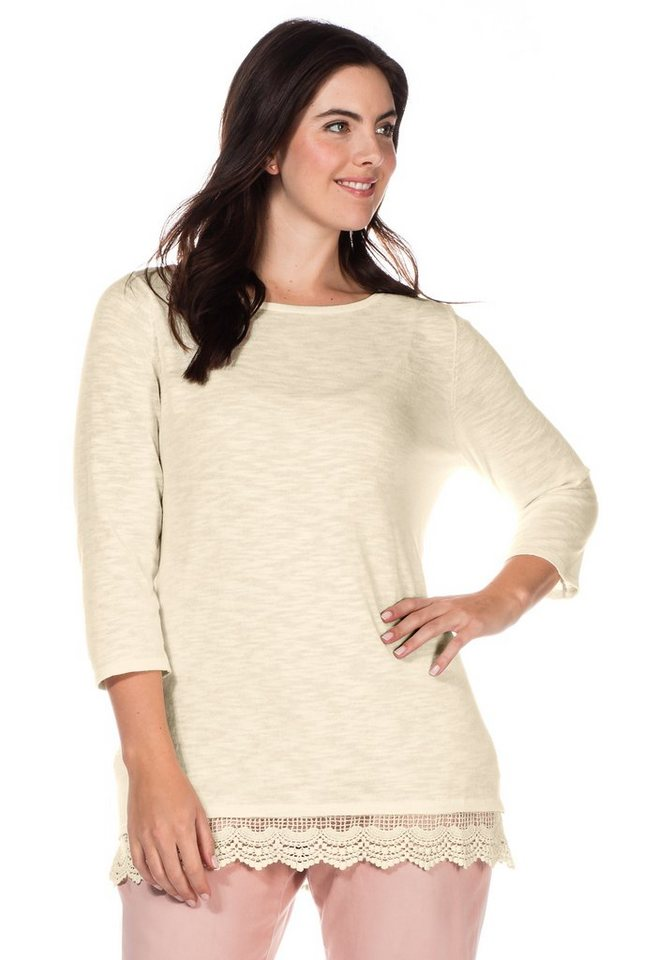 sheego Casual Pullover in elfenbein