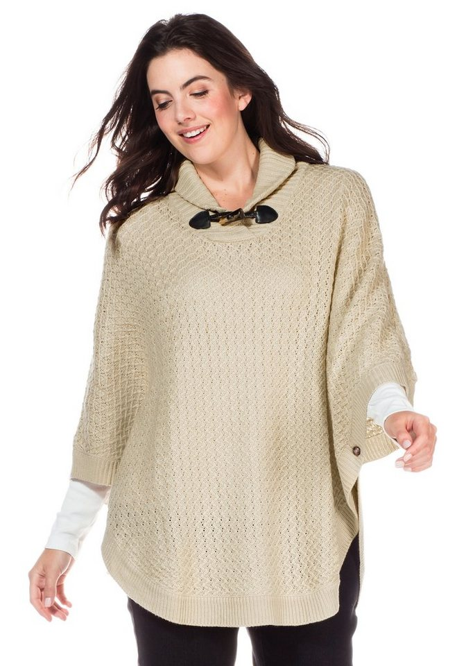 sheego Casual Poncho in beige