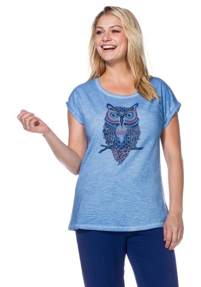 sheego Casual Shirt in bleu