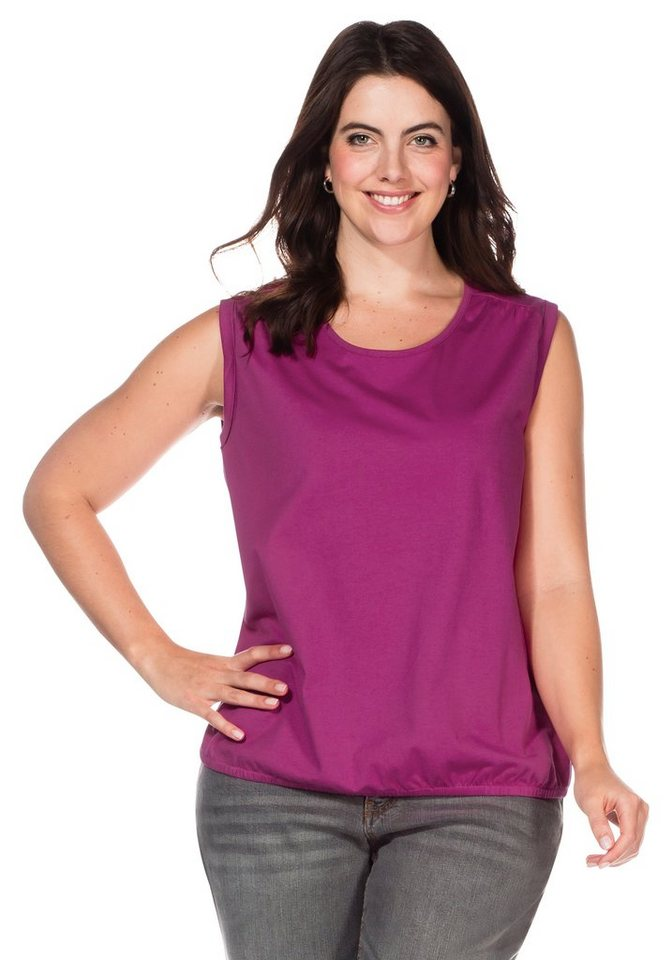 sheego Casual Top in magenta