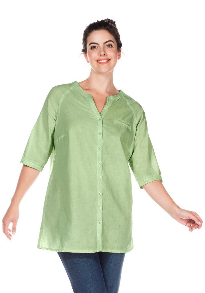 sheego Casual Longbluse in apfelgrün