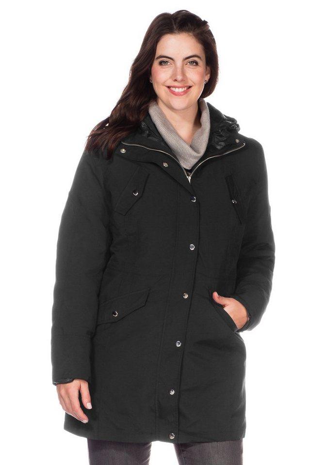 sheego Style 3-in-1-Jacke in schwarz