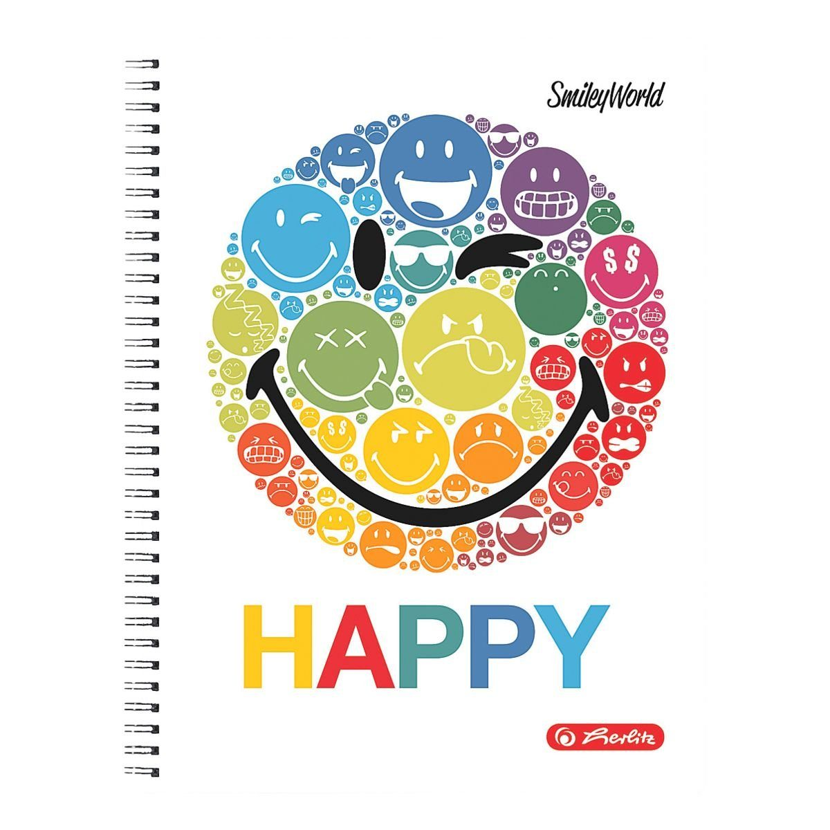 Herlitz Collegeblock A4 kariert, holzrfreies Papier »SmileyWorld Rainbow«