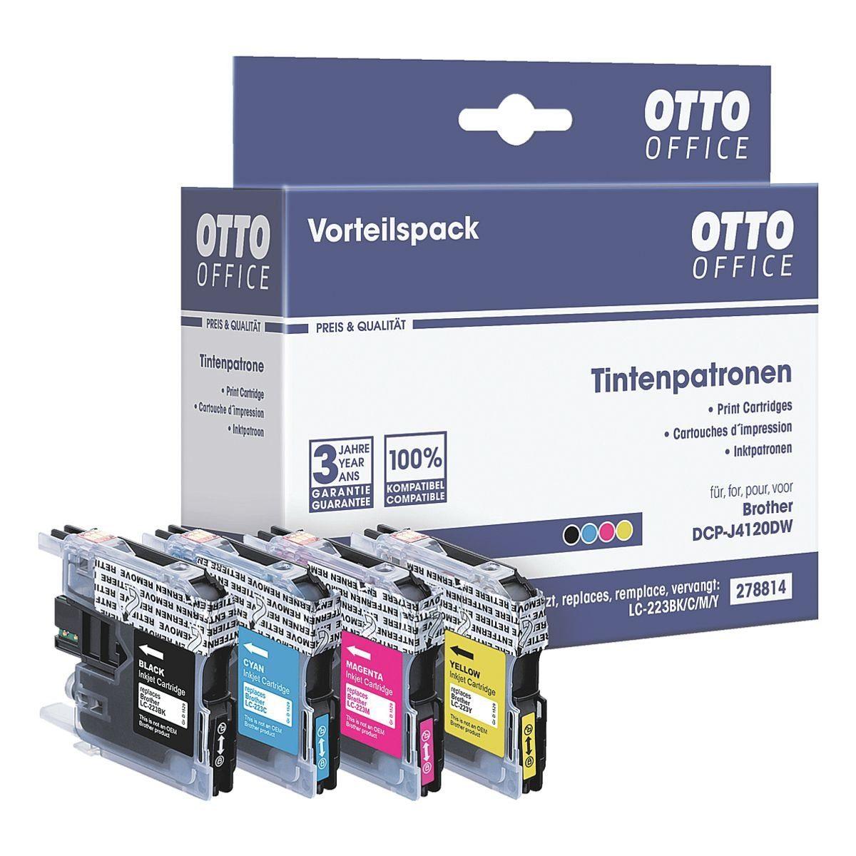 OTTO Office Standard Tintenpatronen-Set ersetzt Brother »LC223 BK/C/M/Y«