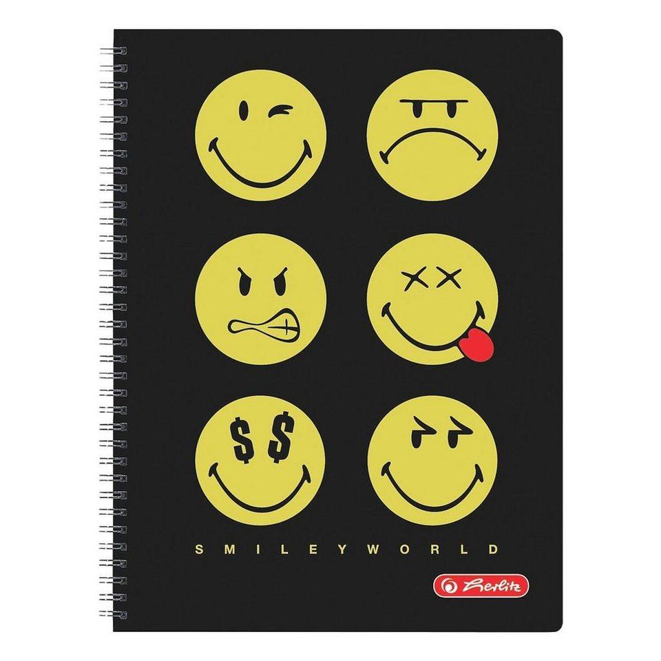 Herlitz Collegeblock »SmileyWorld Black«