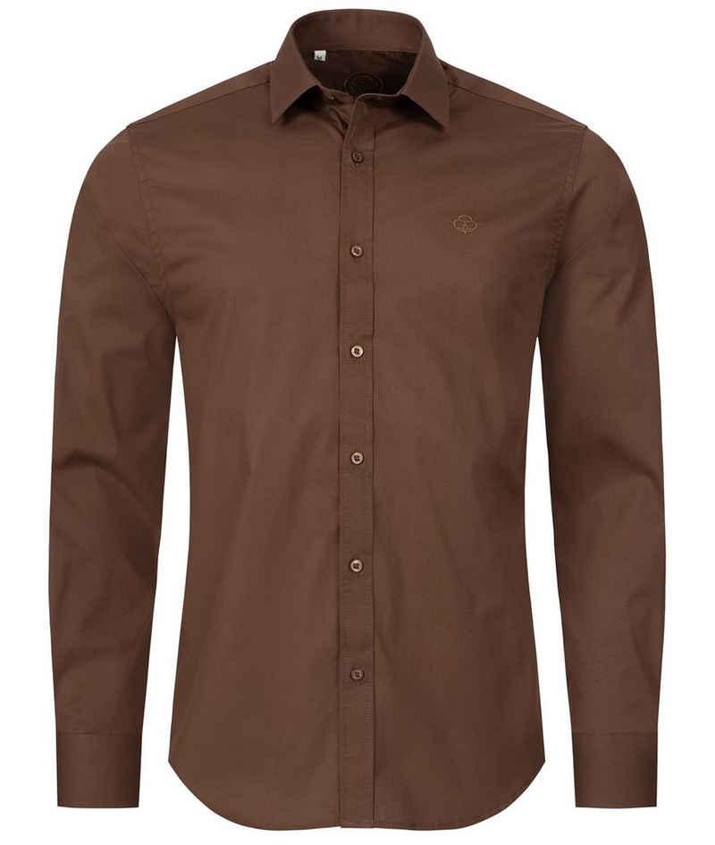 Indumentum Businesshemd »Herren Hemd Slim Fit H-272«