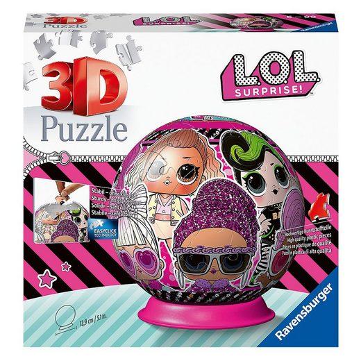 Ravensburger 3D-Puzzle »3D-Puzzleball LOL Surprise!, 72 Teile«, Puzzleteile
