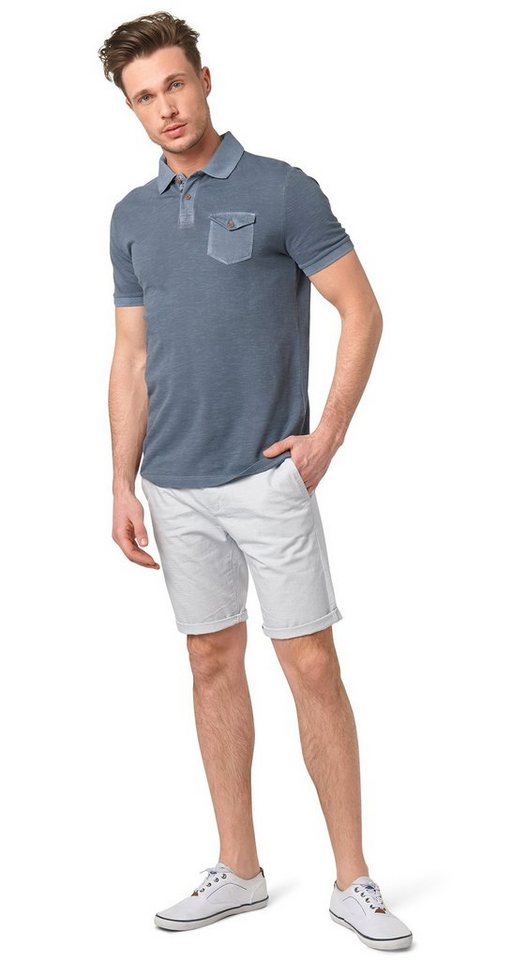 TOM TAILOR Shorts »gestreifte Chino-Shorts« in off white