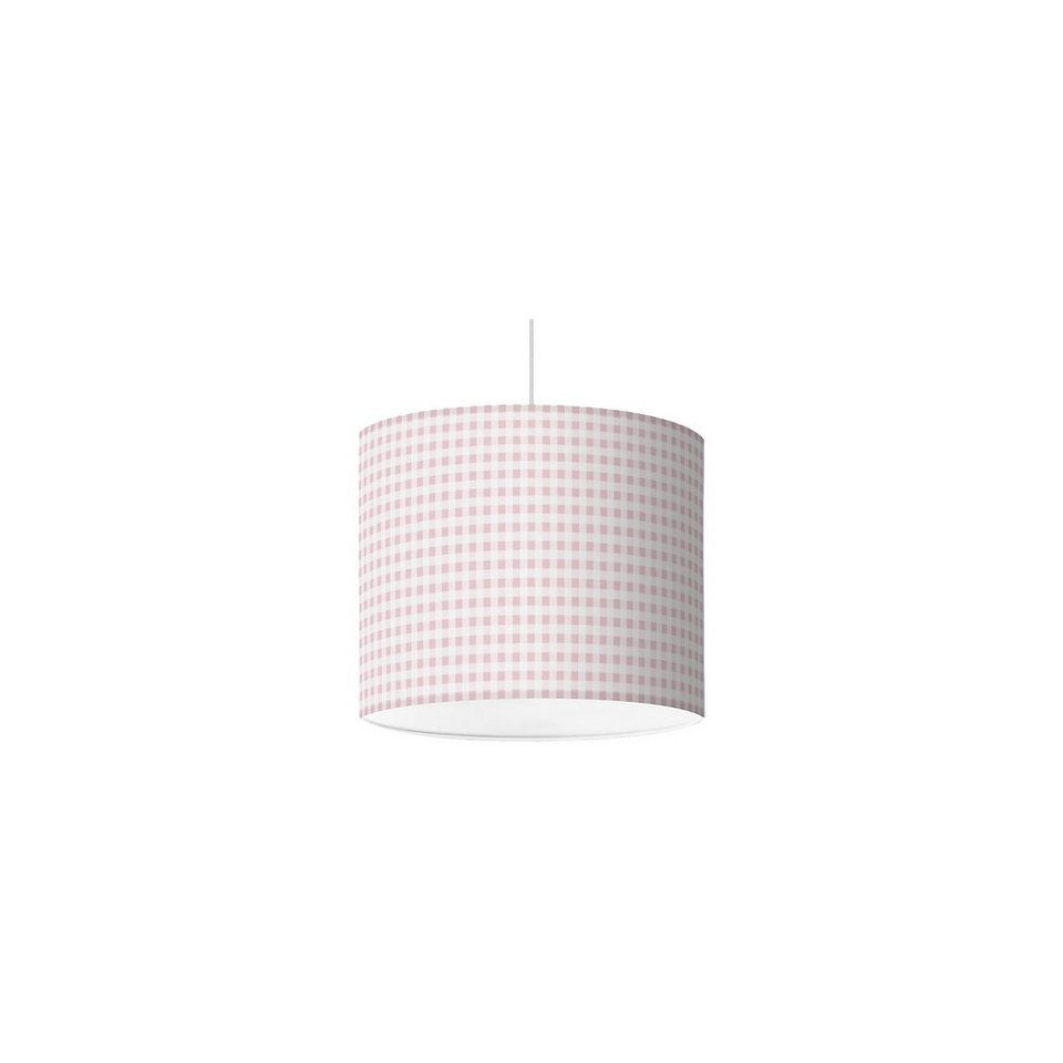 Lampenschirm Karo, altrosa, Ø16cm in rosa