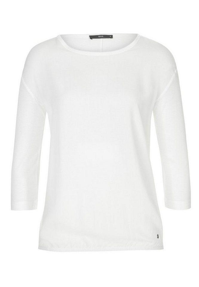 BRAX T-Shirt »CHIARA« in OFF WHITE