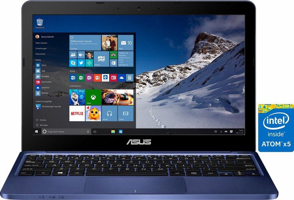 Asus E200HA Notebook, Intel® Atom™, 29,4 cm (11,6 Zoll), 32 GB Speicher, 2048 MB DDR3L in blau