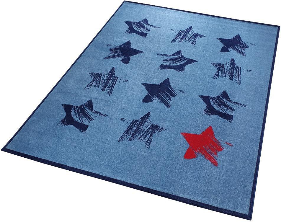 Teppich, Wecon Home, »Red Star«, mit Sternen in blau
