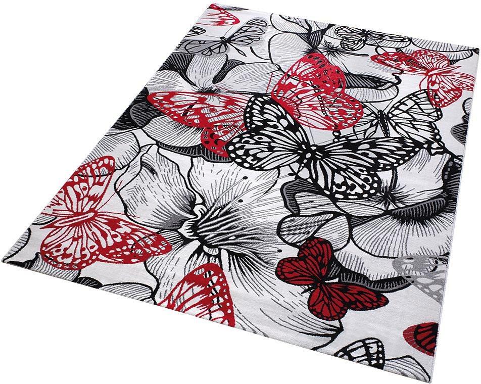 Teppich, Wecon Home, »Butterfly Kiss« in schwarz
