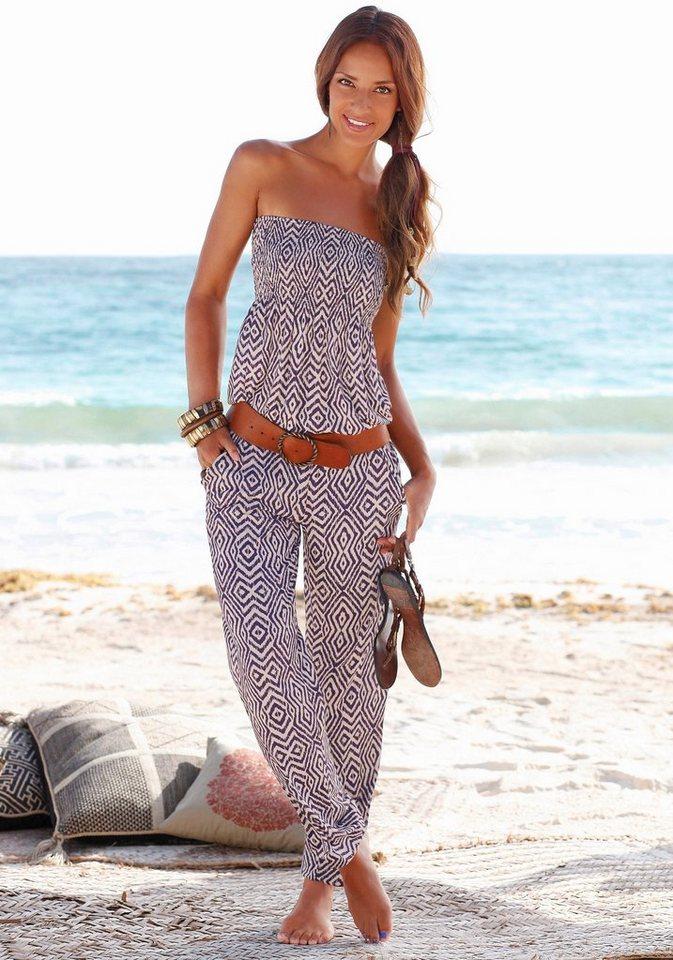 LASCANA Strandhose in lila-sand
