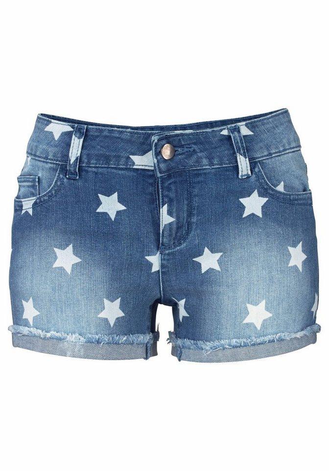 Buffalo London Hotpants mit Sternendruck in blau