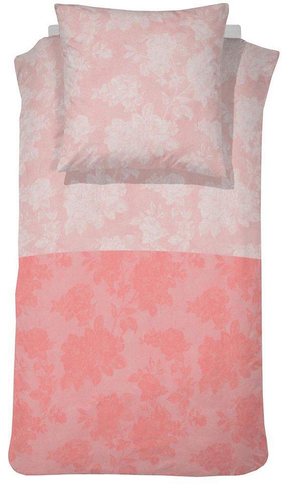 Bettwäsche, Cinderella, »Elin«, mit dezenten Blüten in rosé
