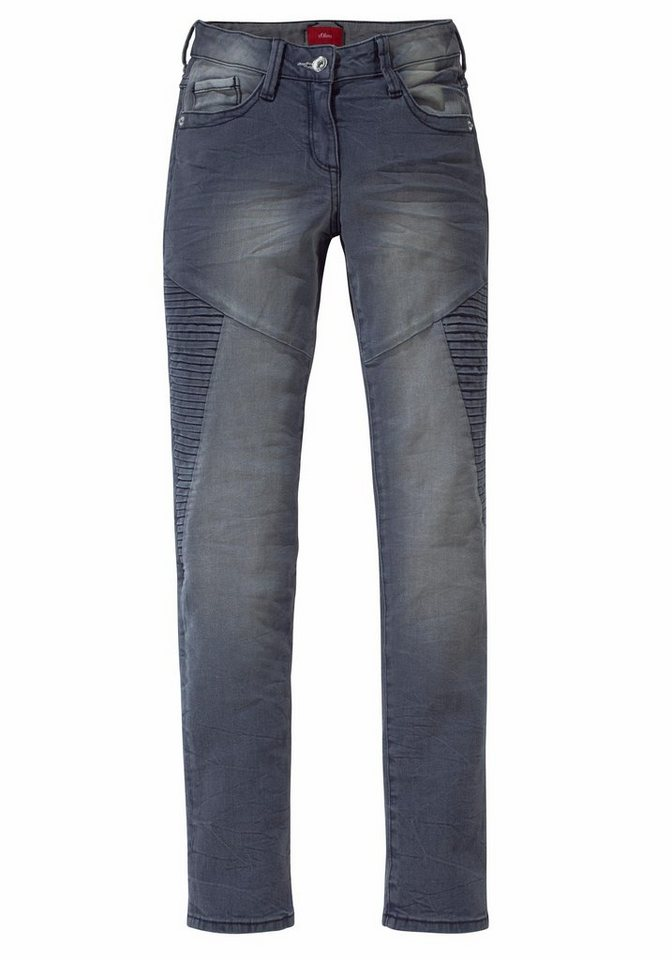 s.Oliver RED LABEL Junior Jeans in schmaler Form, für Mädchen in grey denim