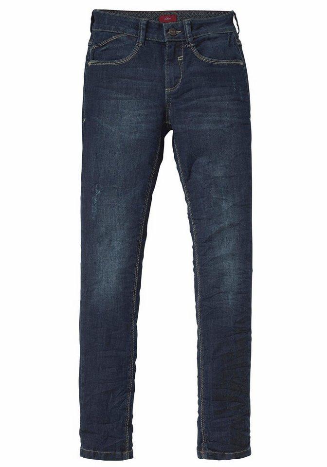 s.Oliver RED LABEL Junior Stretch-Jeans Skinny-fit in blue-denim