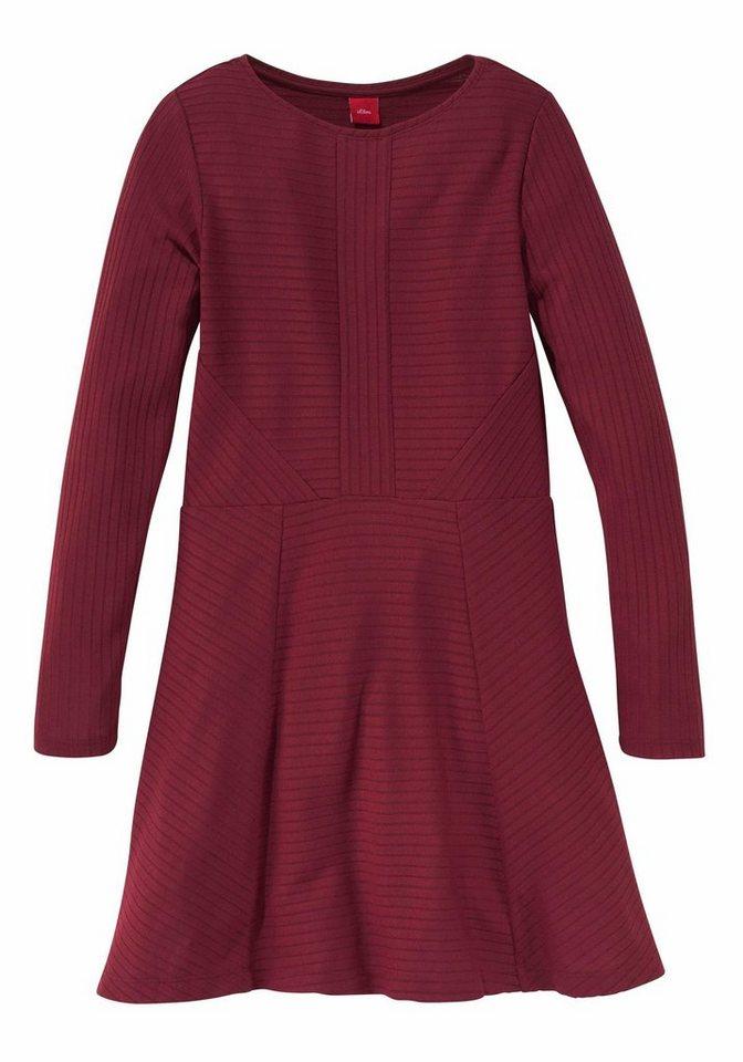 s oliver red label junior kleid mit langen rmeln f r. Black Bedroom Furniture Sets. Home Design Ideas