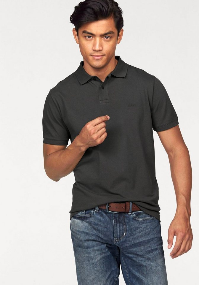 s.Oliver RED LABEL Poloshirt Piqué in anthrazit