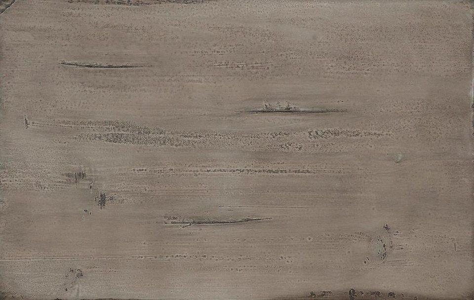 Favorit Highboard »Lucca«, Breite 161 cm, mit 2 Glas- und 2 Holztüren in steingrau