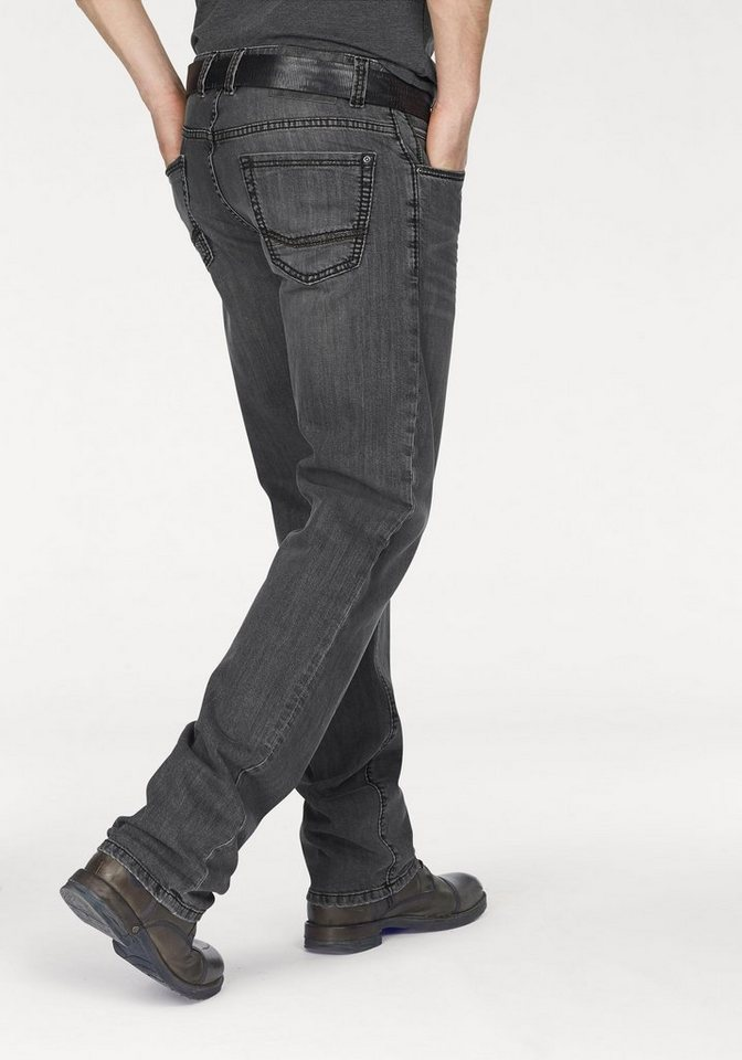 Bruno Banani Straight-Jeans »Brody (Stretch)« in grey-used