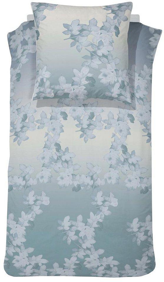 Bettwäsche, Cinderella, »Morning Glory«, mit Blumenranken in mint