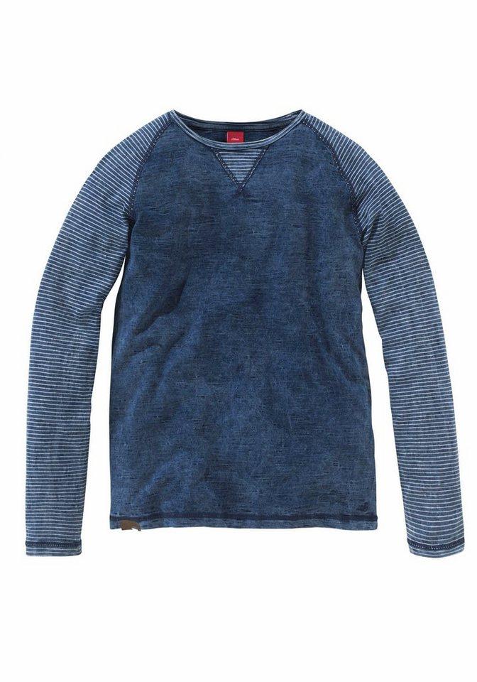 s.Oliver RED LABEL Junior Langarmshirt in blue-used