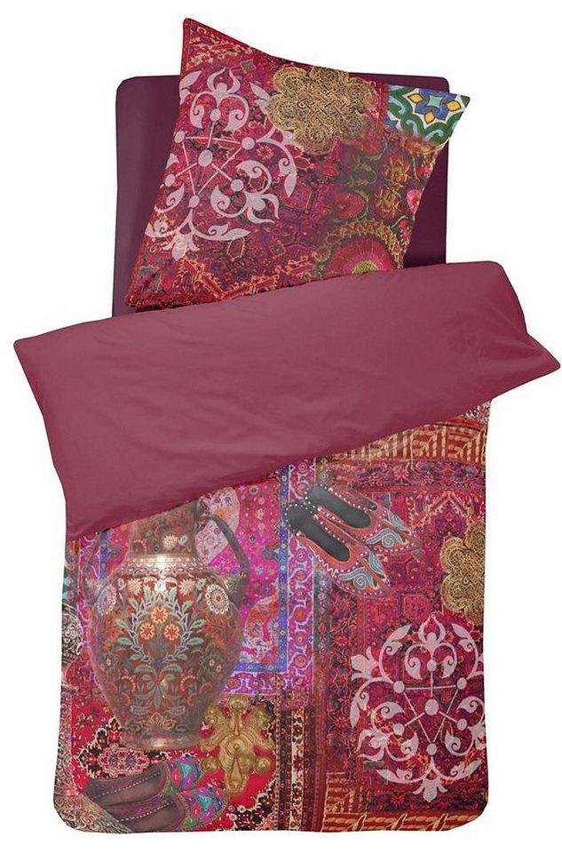 Bettwäsche, Damai, »Persia«, im orientalischen Stil in rot