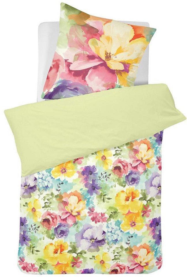 Bettwäsche, Cinderella, »Hanne«, mit bunten Blüten in multi