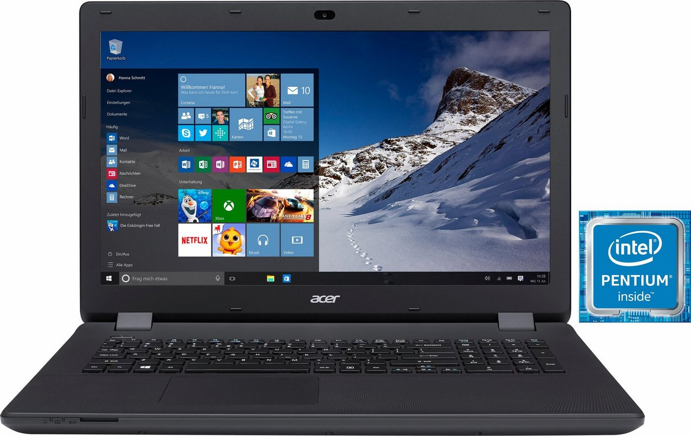 Acer Aspire ES1-731-P892 Notebook, Intel® Pentium™, 43,9 cm (17,3 Zoll), 1000 GB Speicher