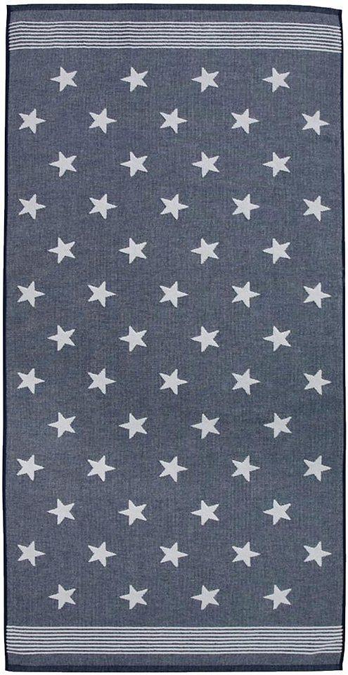 Badetuch, Seahorse, »Stardust«, mit Sternen & Streifen in blau