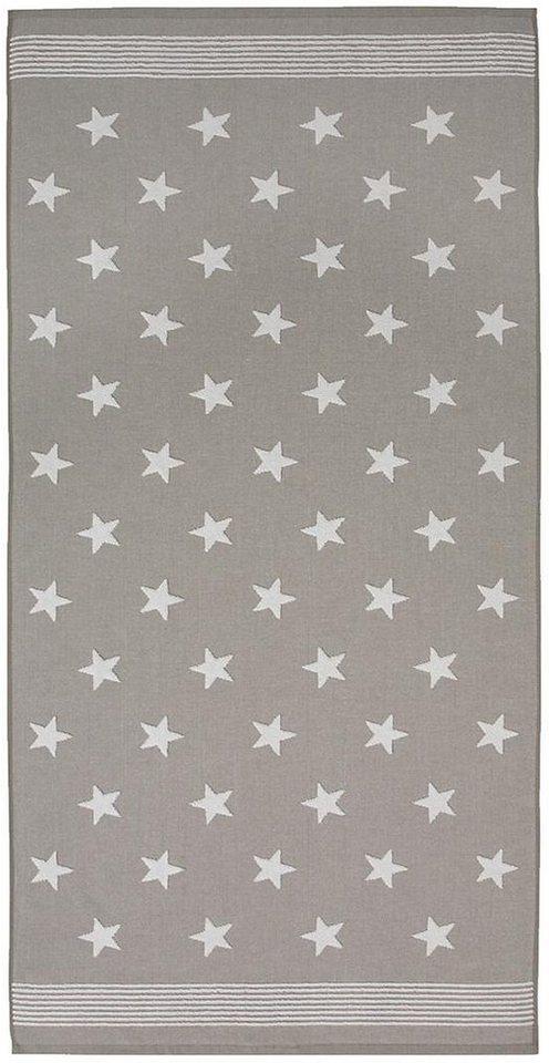 Badetuch, Seahorse, »Stardust«, mit Sternen & Streifen in taupe
