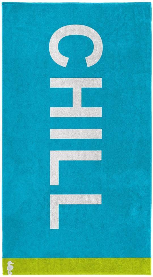 Strandtuch, Seahorse, »Chill«, mit großem Schriftzug