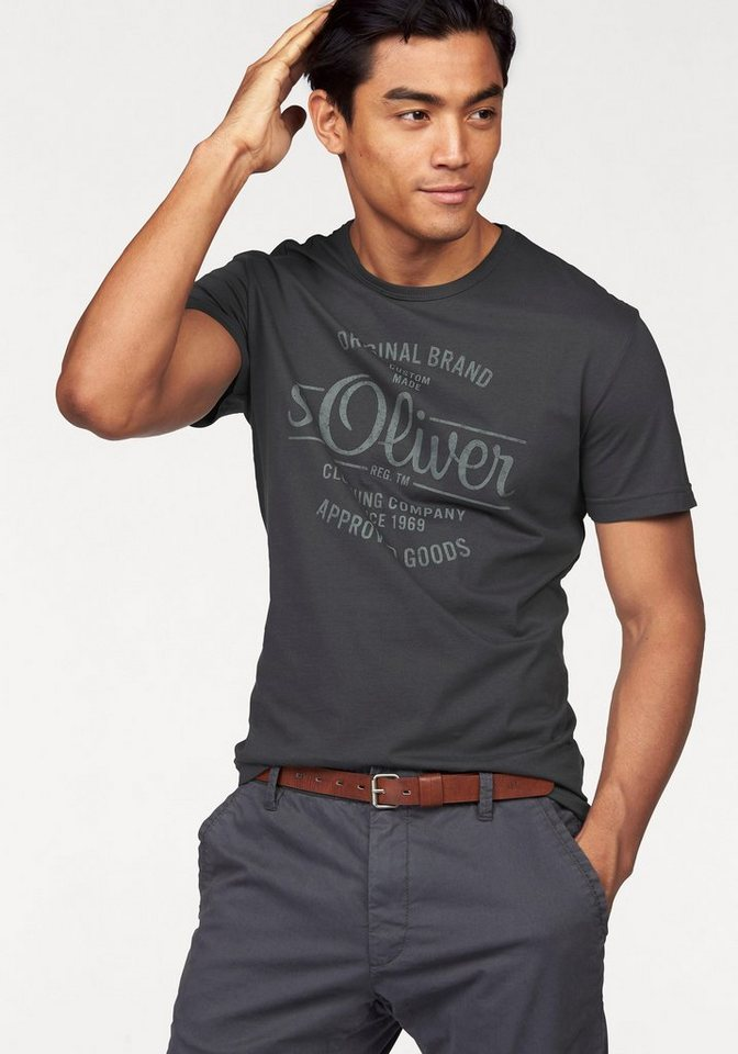 s.Oliver RED LABEL T-Shirt in grau