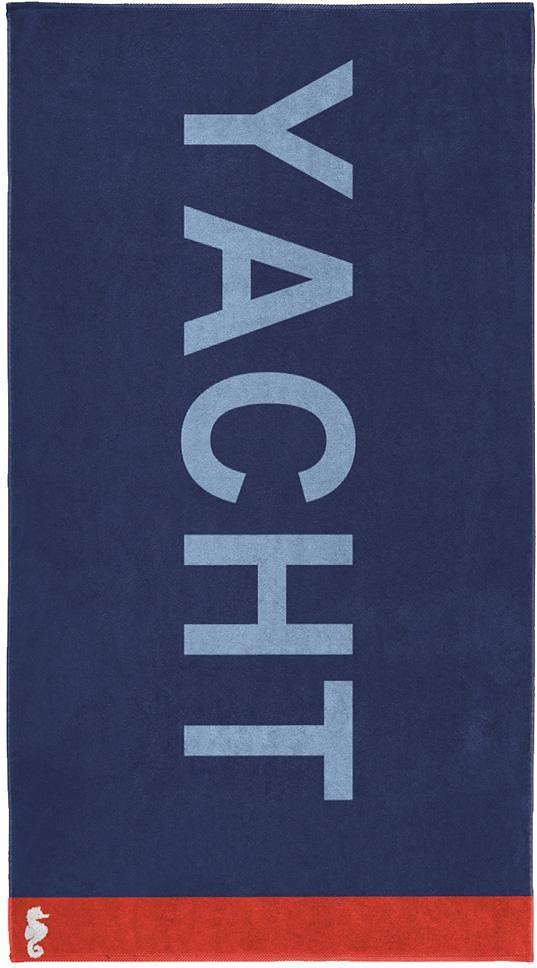Strandtuch, Seahorse, »Yacht«, mit großem Schriftzug