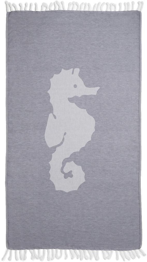 Hamamtuch, Seahorse, »Seepferdchen«, mit großem Motiv