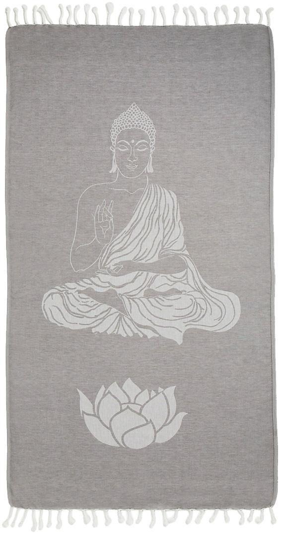 Hamamtuch, Seahorse, »Buddha«, mit Wellness Motiven